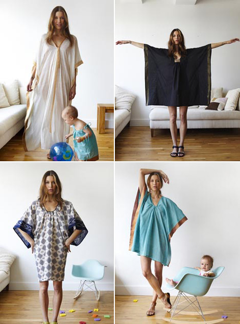 Caftan dresses by Two New York