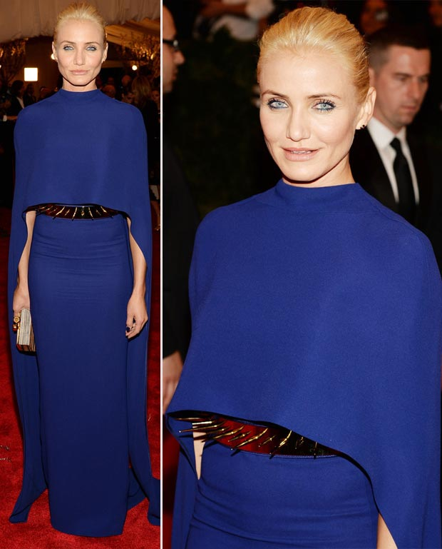 Cameron Diaz blue dress 2013 Met Gala