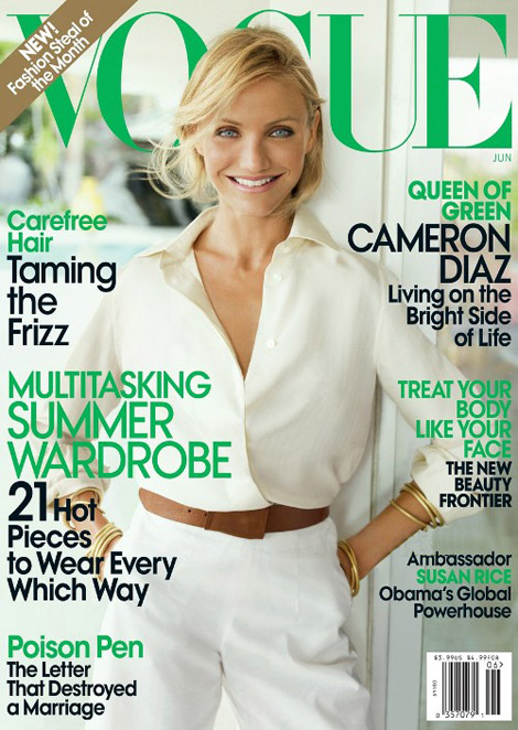 Cameron Diaz Vogue June 2009 cover
