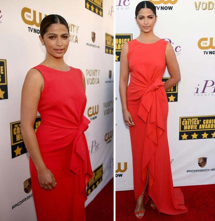 Camila Alves Paule Ka red dress Critics Choice Awards