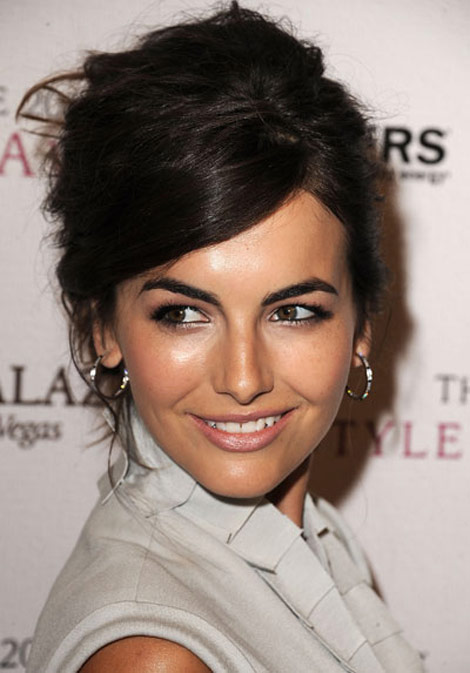 Camilla Belle Messy hair updo