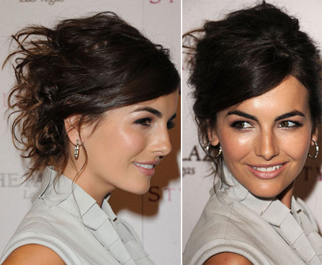 Camilla Belle Twisted Messy Hair updo