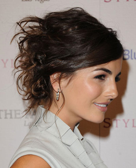 Camilla Belle Twisted Messy hairdo