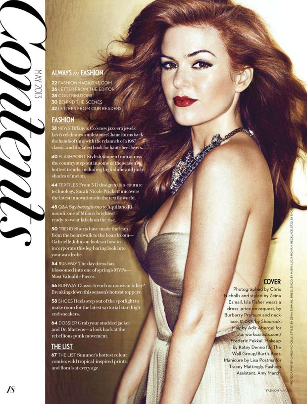 Canada s Fashion Magazine Isla Fisher