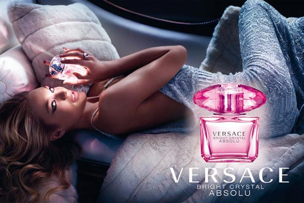 Candice Swanepoel ad Versace Bright Crystal Absolu perfume
