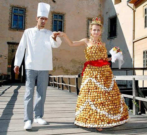 Candy wedding dress