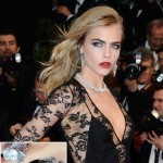 Cara Delevingne's Tattoo, Skin Rash, Black Dress On Cannes 2013 Red Carpet