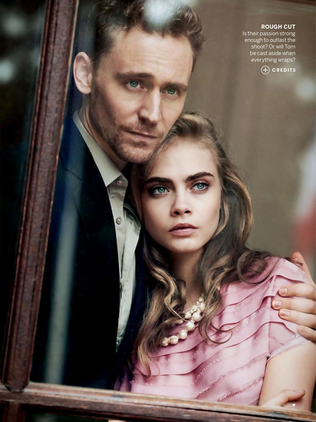 Cara Delevingne Tom Hiddleston coupled up for Peter Lindbergh pictorial
