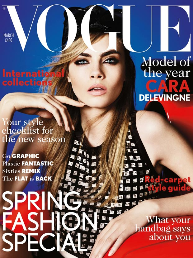 Cara Delevingne Covers Her First Vogue UK March 2013