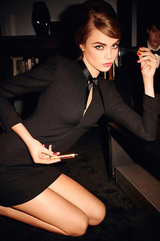 Cara Delevingne Yves Saint Laurent Baby Doll Beauty campaign