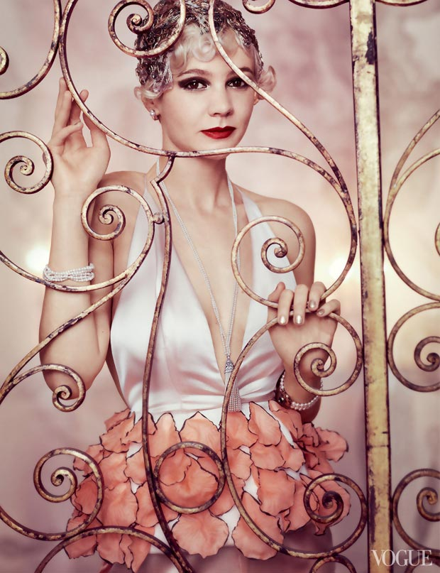 Daisy Buchanan (Carey Mulligan) Bringing Gatsby In Vogue US May 2013