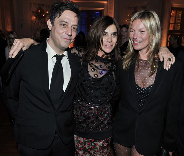 Carine Roitfeld Jamie Hince Kate Moss CR Book launch