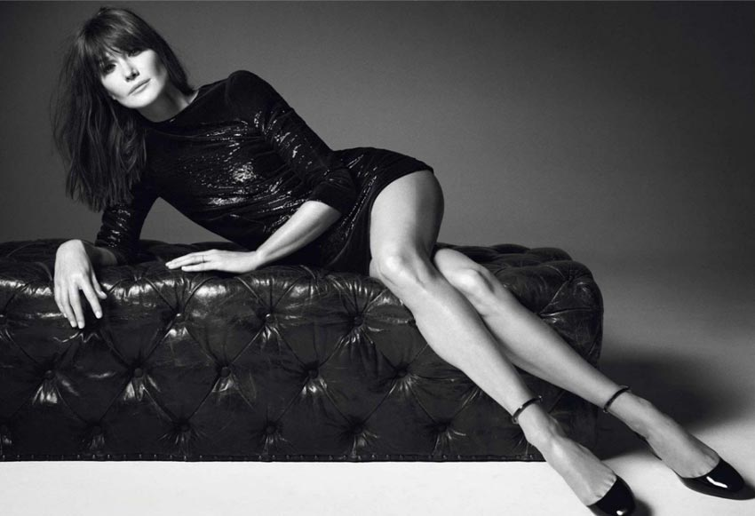Carla Bruni by Mario Sorrenti Vogue Paris December 2012