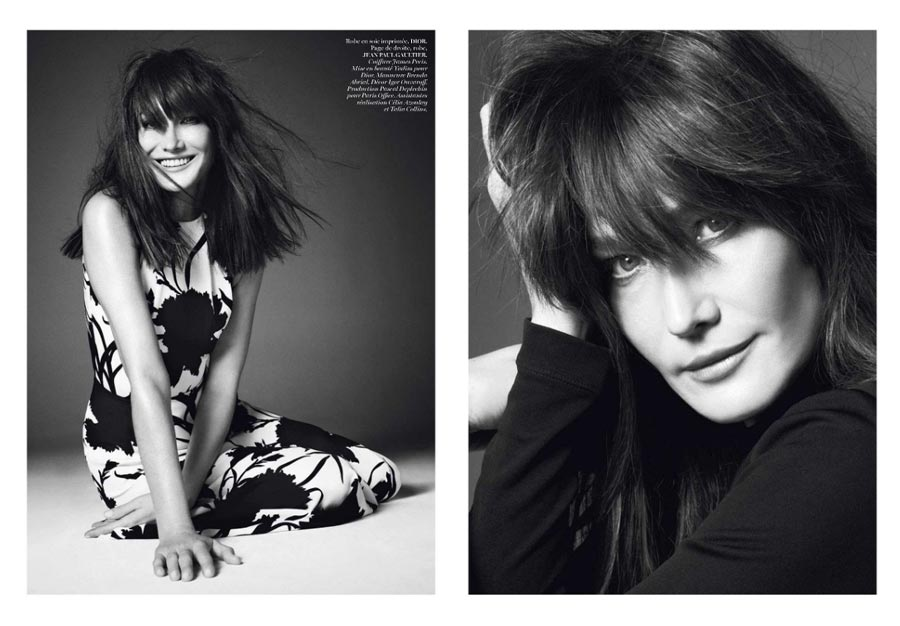 Carla Bruni Sarkozy Vogue Paris December 2012