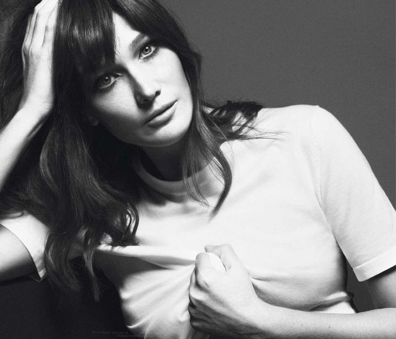 Carla Bruni Vogue Paris black and white pictorial