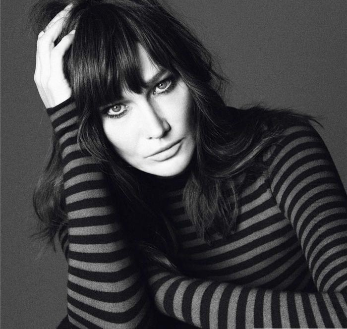 Carla Bruni Posing Happily In Vogue Paris December 2012
