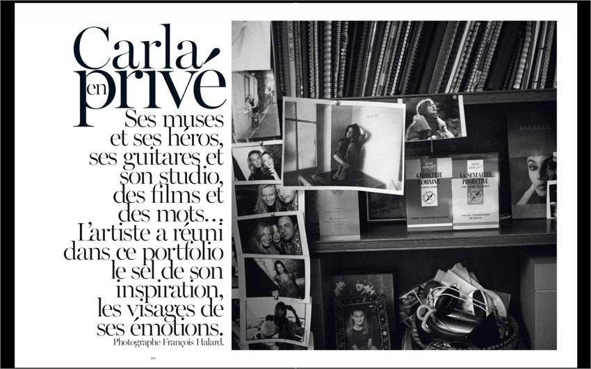 Carla Bruni Vogue Paris December 2012 private
