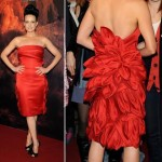 Carla Gugino red dress