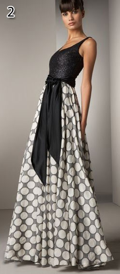 Carmen Marc Valvo The Dot Print Gown