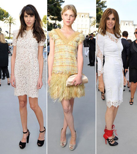 Lagerfeld Girls Support His New 2012 Chanel Cruise Collection