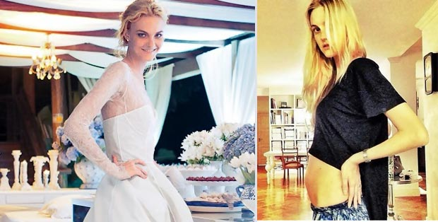 Caroline Trentini Is Pregnant: Check Out Her Model Baby Bump!