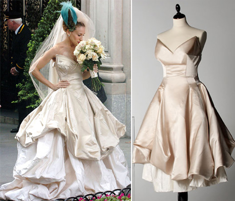 Carrie Bradshaw Vivienne Westwood Bride dress