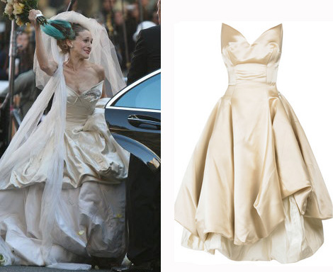 Carrie SATC Vivienne Westwood wedding dress