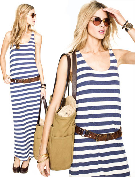 casual dress striped tank maxi dress