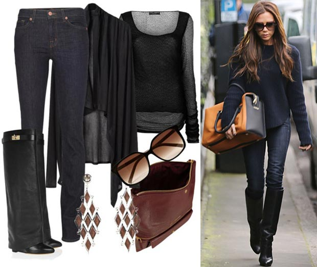 Rainy Day Office Casual Outfit Inspired By Victoria Beckham