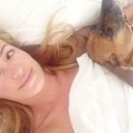 Cat Deeley in bed without makeup wakeupcall