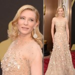 Cate Blanchett 2014 Oscars jewelry hair makeup