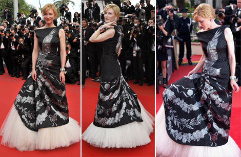 Cate Blanchett Alexander McQueen dress Cannes 2010