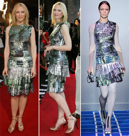 Cate Blanchett Balenciaga dress Benjamin Button premiere