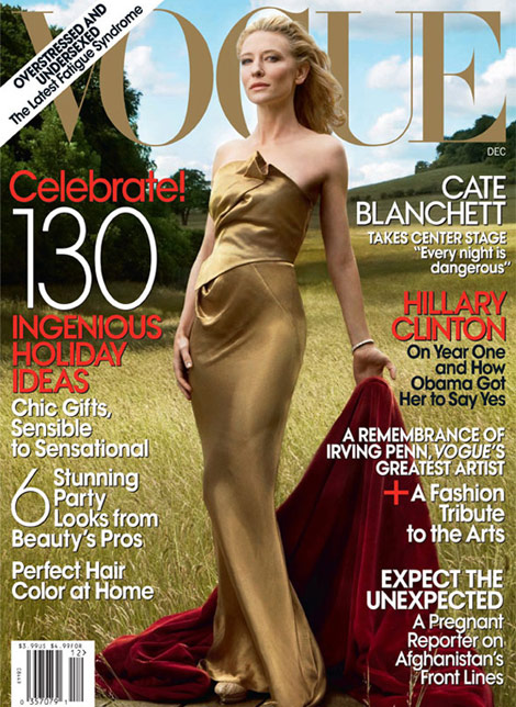 Cate Blanchett cover Vogue US December 2009