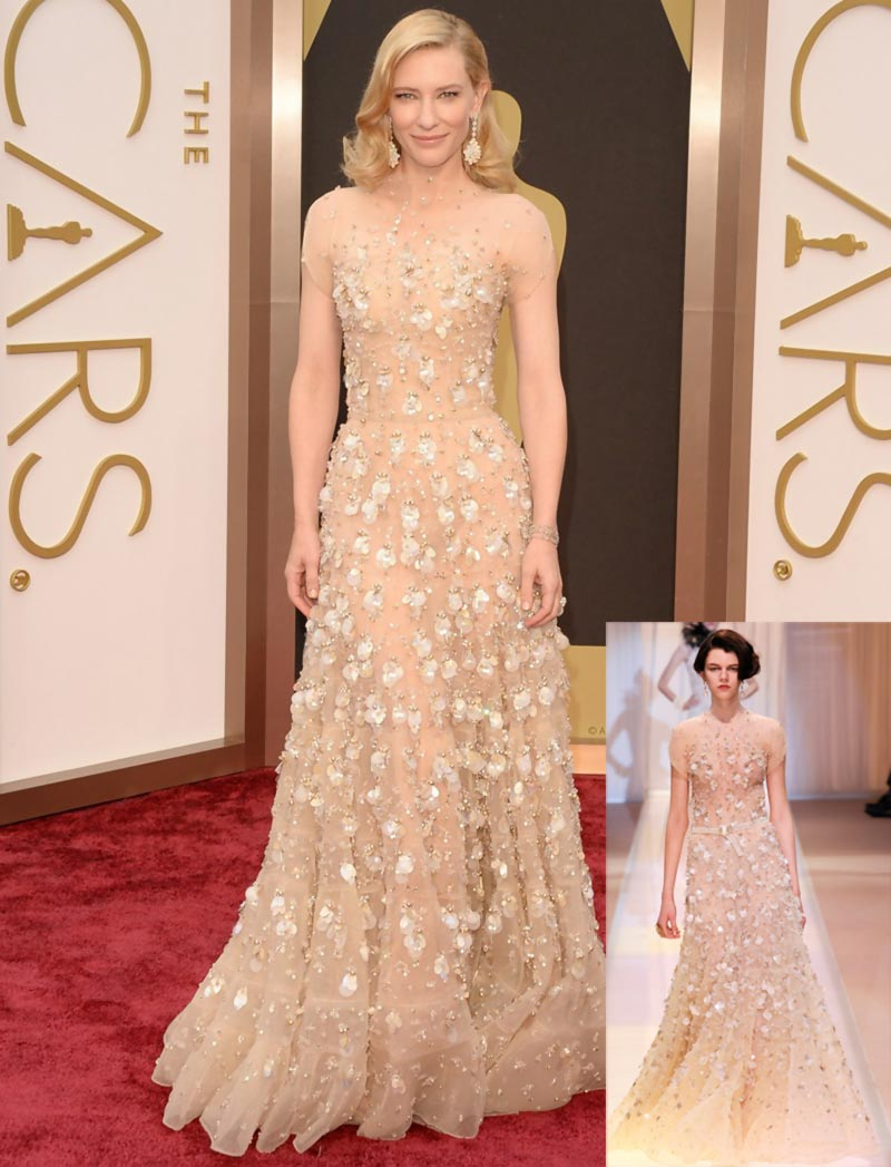 Cate Blanchett dress 2014 Oscars Armani Prive