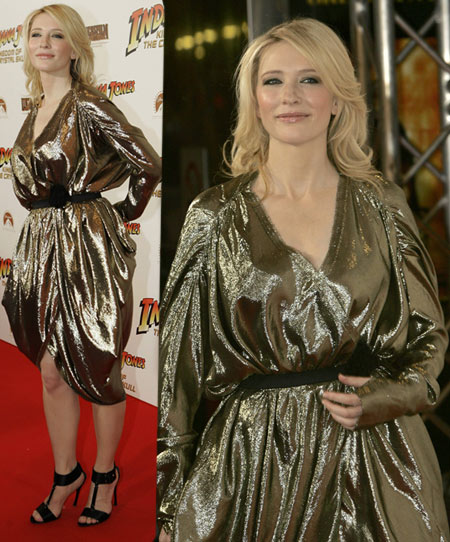 Cate Blanchett Armani Fashion Disaster For Indiana Jones Sidney Premiere