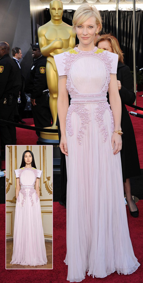 Cate Blanchett Pale Pink Givechy couture dress 2011 Oscars