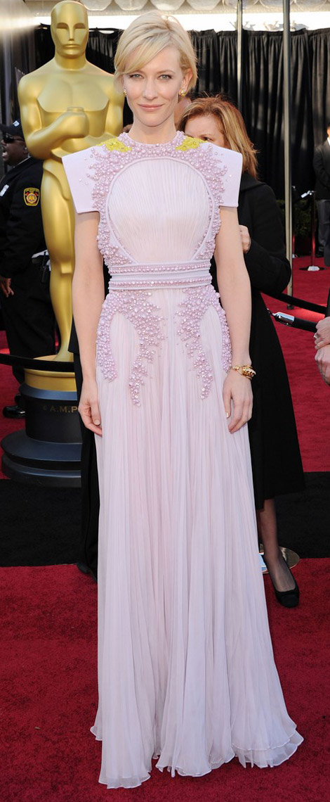Cate Blanchett pink Givenchy dress 2011 Oscars