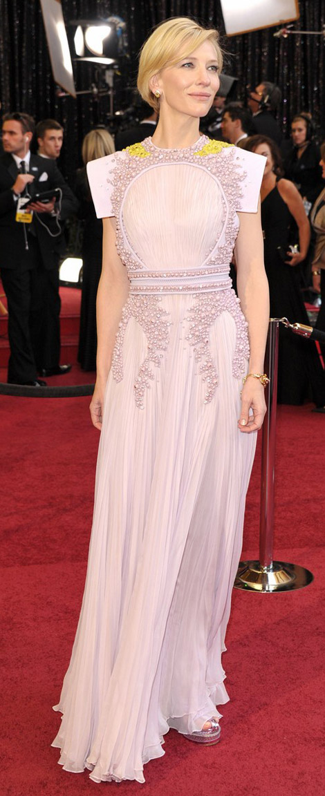 Cate Blanchett In Soft Pink Givenchy Dress For 2011 Oscars