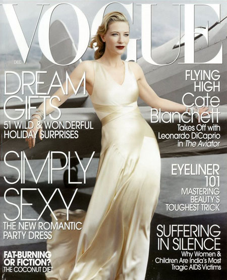 Cate Blanchett Vogue December 2004 cover