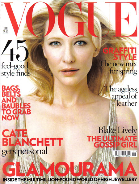 Cate Blanchett Vogue UK January 2009 cover