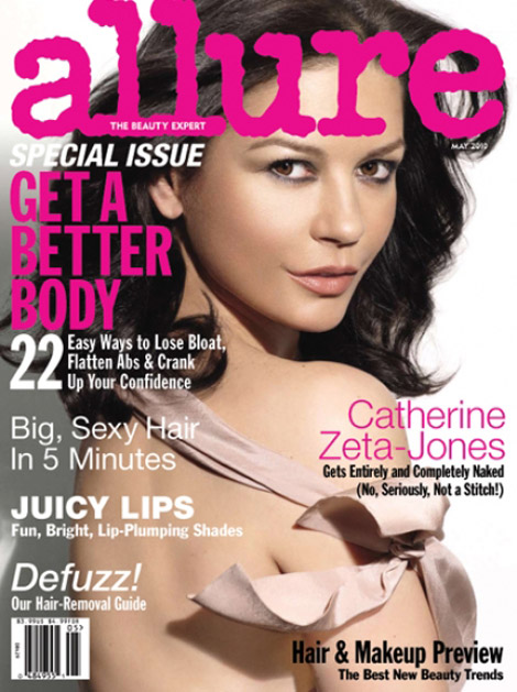 Catherine Zeta Jones Allure May 2010 cover