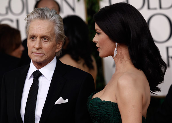 Catherine Zeta Jones Michael Douglas Golden Globes 2011 2