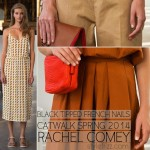 Catwalk black tipped french nails Spring 2014 Rachel Comey