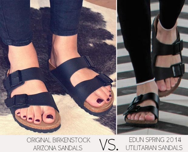 catwalk sandals vs normal sandals