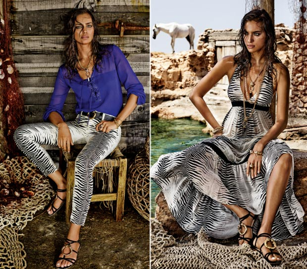 Irina Shayk, New Fashion Star In Ibiza: Vogue Spain Vs Cavalli C&A