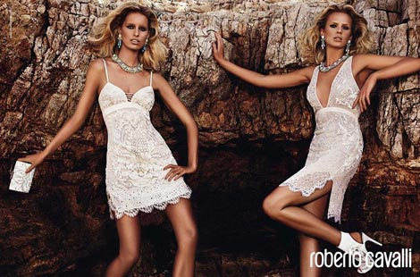 Karolina Kurkova, Anne Vyalitsyna Super Tan For Cavalli Resort 2013 Campaign