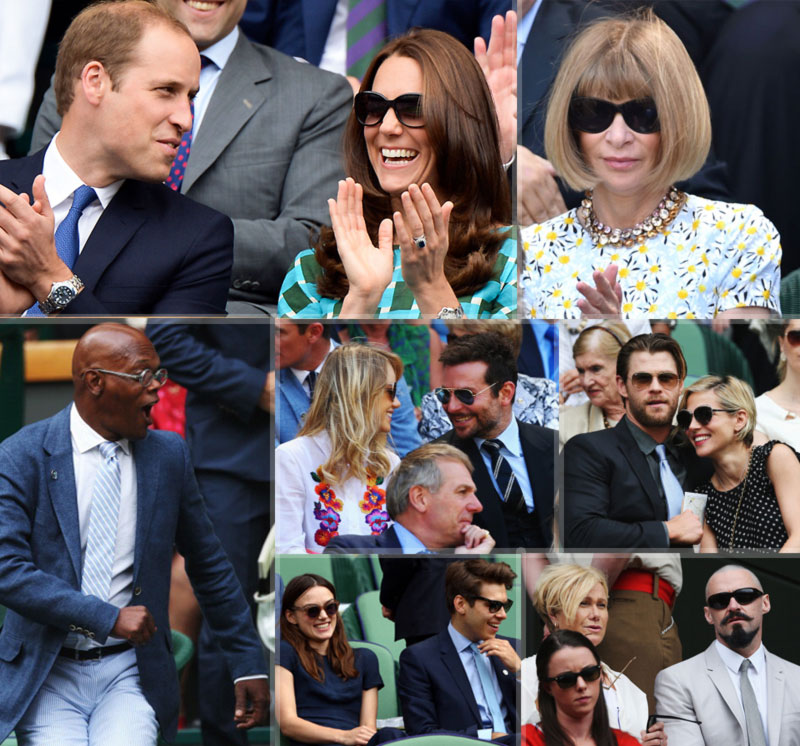 celebrities attending Wimbledon final