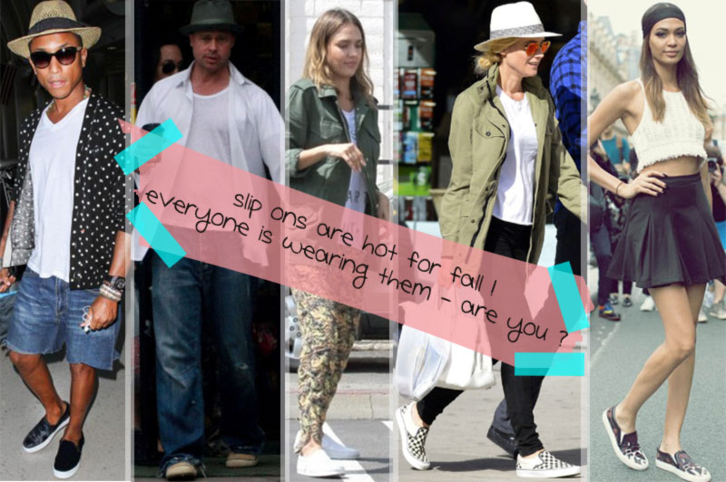 celebrities favorite footwear slip on sneakers