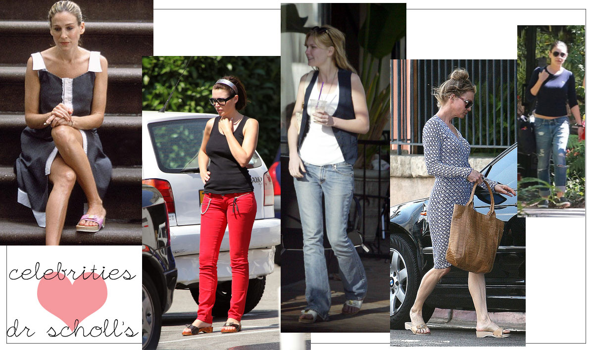 celebrities love comfy shoes dr scholls